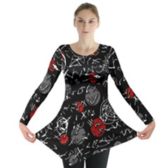 Red mind Long Sleeve Tunic