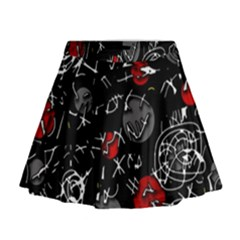 Red mind Mini Flare Skirt