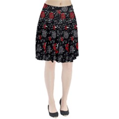 Red mind Pleated Skirt