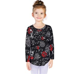 Red mind Kids  Long Sleeve Tee
