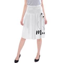 Cute Kitty Midi Beach Skirt