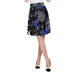 Blue mind A-Line Skirt