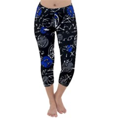 Blue mind Capri Winter Leggings