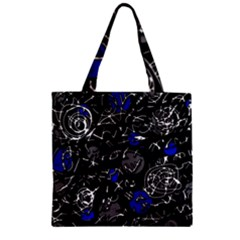 Blue mind Zipper Grocery Tote Bag