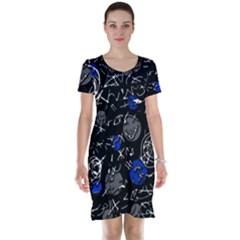 Blue mind Short Sleeve Nightdress