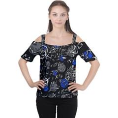 Blue mind Women s Cutout Shoulder Tee
