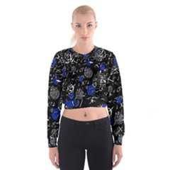 Blue mind Women s Cropped Sweatshirt