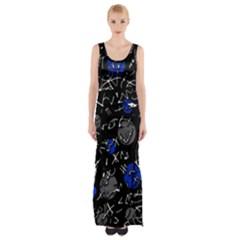 Blue mind Maxi Thigh Split Dress