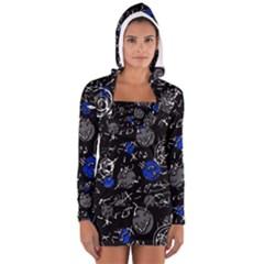 Blue mind Women s Long Sleeve Hooded T-shirt
