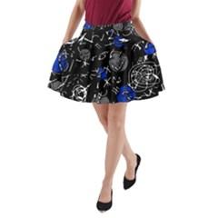 Blue mind A-Line Pocket Skirt