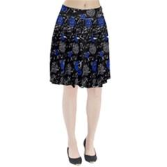 Blue mind Pleated Skirt