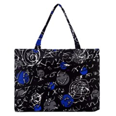 Blue Mind Medium Zipper Tote Bag
