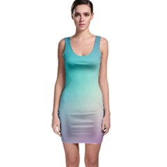 Background Blurry Template Pattern Sleeveless Bodycon Dress
