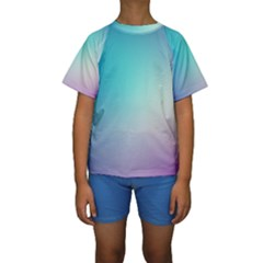 Background Blurry Template Pattern Kids  Short Sleeve Swimwear