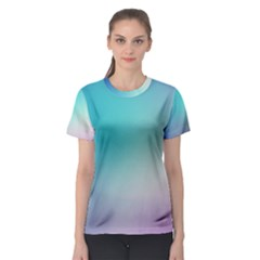 Background Blurry Template Pattern Women s Sport Mesh Tee