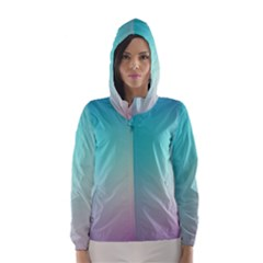 Background Blurry Template Pattern Hooded Wind Breaker (Women)