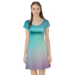 Background Blurry Template Pattern Short Sleeve Skater Dress