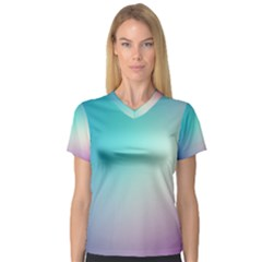 Background Blurry Template Pattern Women s V-Neck Sport Mesh Tee