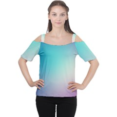 Background Blurry Template Pattern Women s Cutout Shoulder Tee