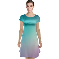 Background Blurry Template Pattern Cap Sleeve Nightdress