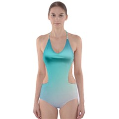 Background Blurry Template Pattern Cut-Out One Piece Swimsuit