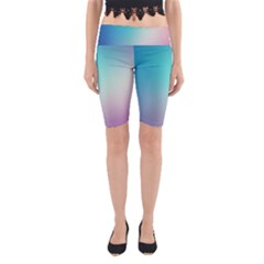 Background Blurry Template Pattern Yoga Cropped Leggings
