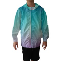 Background Blurry Template Pattern Hooded Wind Breaker (Kids)