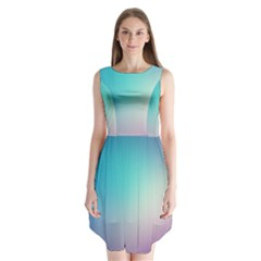 Background Blurry Template Pattern Sleeveless Chiffon Dress