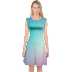 Background Blurry Template Pattern Capsleeve Midi Dress