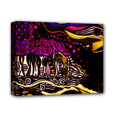 THE GLISTENING  by WBK:  Deluxe Canvas 14  x 11  (Framed)