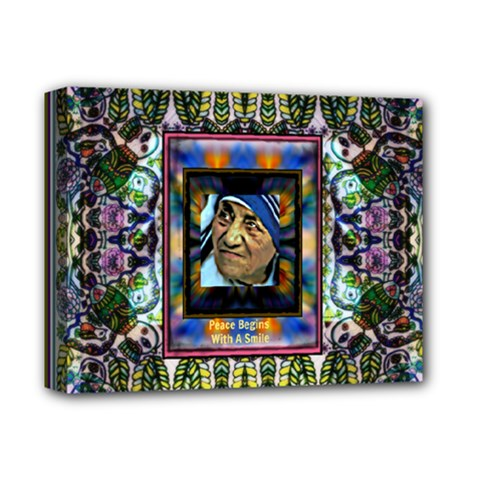 mother Theresa  By Wbk:  Deluxe Canvas 14  X 11  (framed)