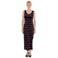 BRK1 BK-PK MARBLE Fitted Maxi Dress