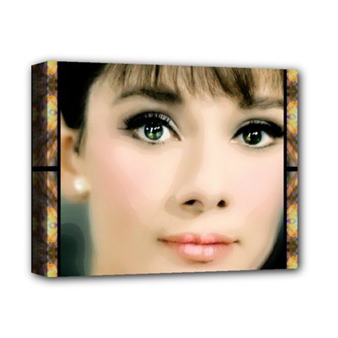 Beautiful Audrey  by WBK:  Deluxe Canvas 14  x 11  (Framed)