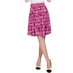 BRK1 BK-PK MARBLE (R) A-Line Skirt
