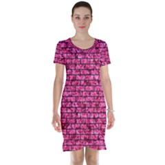BRK1 BK-PK MARBLE (R) Short Sleeve Nightdress