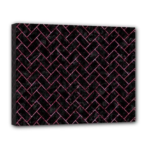 BRK2 BK-PK MARBLE Canvas 14  x 11