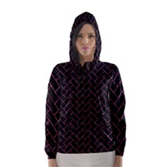 BRK2 BK-PK MARBLE Hooded Wind Breaker (Women)