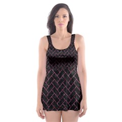 BRK2 BK-PK MARBLE Skater Dress Swimsuit