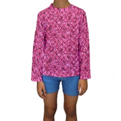 BRK2 BK-PK MARBLE (R) Kids  Long Sleeve Swimwear