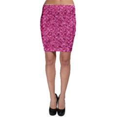 BRK2 BK-PK MARBLE (R) Bodycon Skirt