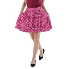 BRK2 BK-PK MARBLE (R) A-Line Pocket Skirt