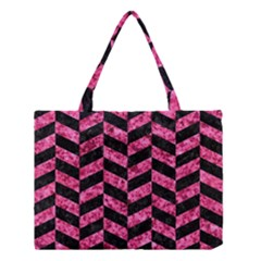 CHV1 BK-PK MARBLE Medium Tote Bag