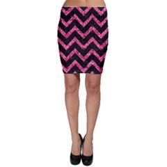 CHV9 BK-PK MARBLE Bodycon Skirt