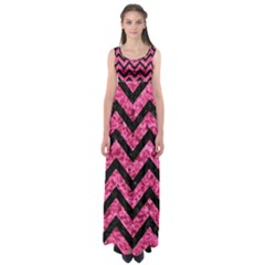 CHV9 BK-PK MARBLE (R) Empire Waist Maxi Dress