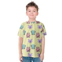 Animals Pastel Children Colorful Kids  Cotton Tee