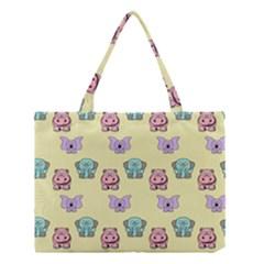 Animals Pastel Children Colorful Medium Tote Bag