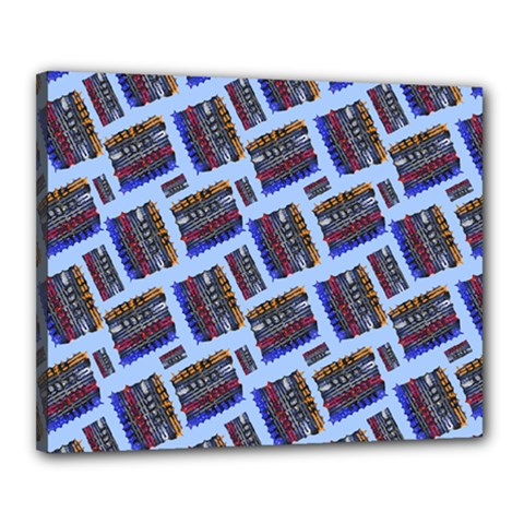 Abstract Pattern Seamless Artwork Canvas 20  x 16