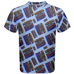 Abstract Pattern Seamless Artwork Men s Cotton Tee