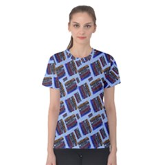 Abstract Pattern Seamless Artwork Women s Cotton Tee