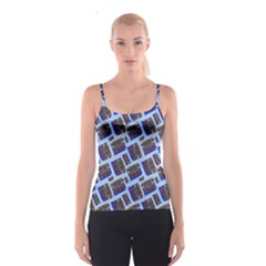 Abstract Pattern Seamless Artwork Spaghetti Strap Top